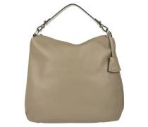Adria Calf Leather Hobo Bag Khaki