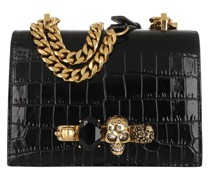 Umhängetasche Small Jewelled Satchel Leather Black