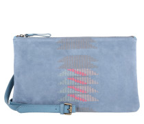 Tasche - Carol Embroidery Suede Leather Bag Blue