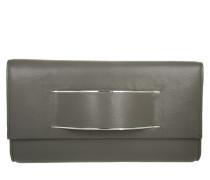 Runway Leather Clutch Grey