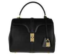 Satchel Bag 16 Small Satinated Calfskin Black
