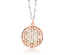 Halskette Lebensblume Necklace Silver