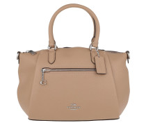 Tote Polished Pebble Leather Elise Satchel Lh/Taupe