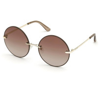 Sonnenbrille Women Sunglasses Metal GU7643 Gold/Brown