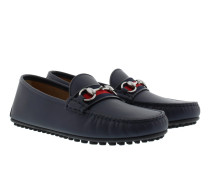 Soft Leather Loafers Blue