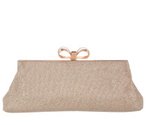 Iirene Glitter Bow Evening Bag Rosegold Clutch