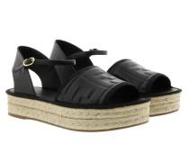 Espadrilles Platform Logo Sandals Black