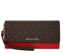 Mercer LG Wristlet Carryall Wallet Brown/Bright Red Portemonnaie rot