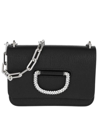 Umhängetasche The Mini Crystal D-Ring Bag Leather Black schwarz