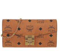 Umhängetasche Patricia Visetos Wallet With Chain Large Cognac cognac