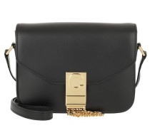 Umhängetasche Small C Bag Shiny Calfskin Black