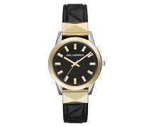 Labelle Stud Ladies Watch Black/Silver/Gold Armbanduhr gold