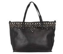 Strass & Rivetts Shopping Bag Grande Nero Umhängetasche
