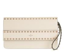 Clutch Rockstud Leather Light Ivory