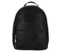 Rucksack Falabella Mini Zip Around Backpack Shaggy Deer Black