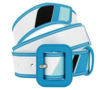 Cinture Rubber Belt Bianco + Azzurro Gürtel blau