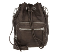 Tasche - Shibata Slouchy Leather Bag Greyish - in braun