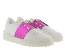 Open Sneakers White/Fuxia Sneakers pink