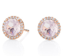 Ohrringe Earring Espressivo Rose Gold Quartz