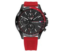 Uhr Men Multifunctional Watch Bank Red