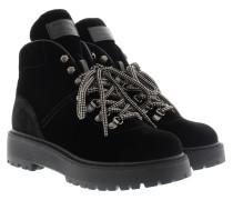 Bootie In Viscose Velluto Black Schuhe