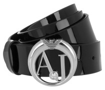 Kleinleder - Logo Belt Patent Leather Black
