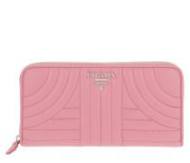 Classic Zip Wallet Saffiano Letaher Begonia