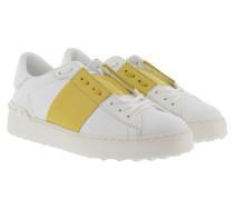 Bicolor Rockstud Sneakers Bianco/Acid Yellow Sneakerss grün