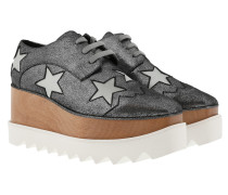 Elyse Platform Shoes Silver Grey Sneakers