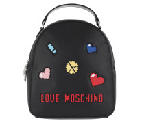Backpack Patches Love Peace Nero Rucksack