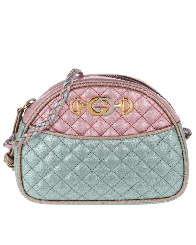 Umhängetasche Laminated Mini Bag Leather Pink/Blue grün