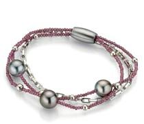 Armband Bracelet Rhodolite Tahiti Pearls