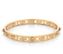 Daisy Rivet Pierced Kissing C Bangle Gold