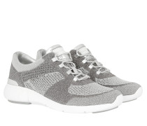 Skyler Trainer Metallic Fabric Sneakers Silver/Optic White Sneakers