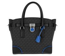 Hamilton LG EW Satchel Bag Black / Electric Blue Tote