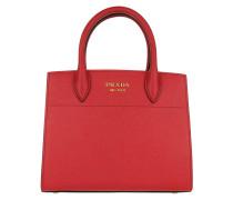 Bibliotheque Tote Bag Small Saffiano Rosso/Bianco rot