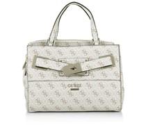 Guess Tasche - Regatta Small Girlfriend Satchel Stone - in weiß - Henkeltasche für Damen