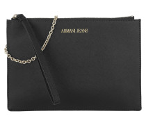 Eco Pouch Saffiano Black Clutch