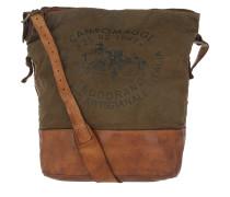 Hobo Bag Tessuto Stampa Militare T/Cognac cognac