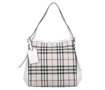 Tasche - Horseferry Check Small Canterbury Panels Tote Stone/White
