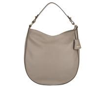 Tasche - Adria Leather Hobo Bag Zinc