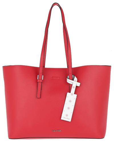 CK Zone Large Shopper Scarlet/CK White