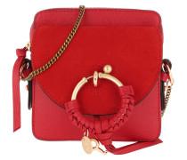 Umhängetasche Joan Camera Bag Leather Radiant Red