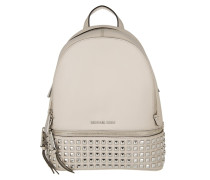 Rhea Zip MD Pyramid Studded Backpack Cement Rucksack