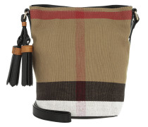 Canvas Check Mini Susanna Tassel Umhängetasche Black beige