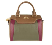 Tasche - La Portena Small Bowling Bag Brown/Green/Burgundy