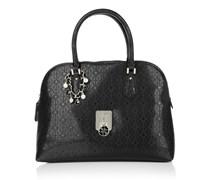Guess Tasche - Rosalind Dome Satchel Black - in schwarz - Henkeltasche für Damen