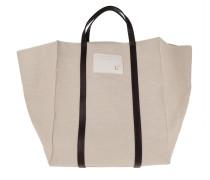 Shopper Canvas Shopping Bag Beige/Dust Grey