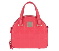 Tote Essential Diamond Patent Bag Mini Tea Berry