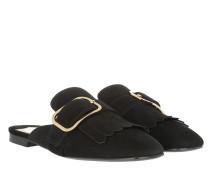 Calzature Donna Slipper Nero Schuhe